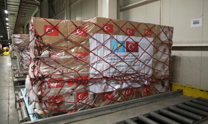 """MSB: """"Covid-19 ile mücadelede kullanılacak olan tıbbi yardım malzemeleri Kazakistan'a gönderildi"""""""