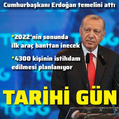 yCumhurbaşkanı Erdoğan,erli otomobil fabrikasının temel atma töreninde konuştu