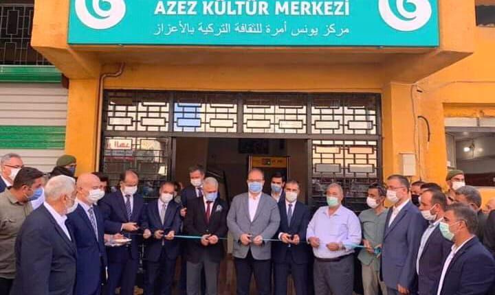Yunus Emre Enstitüsü, 60. merkezini Fırat Kalkanı Harekatlı ile terörden arındırılan Suriye'nin Azez şehrinde açtı.