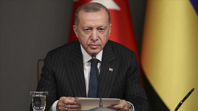 """Cumhurbaşkanı Recep Tayyip Erdoğan, """"Türkiye Kırım'ın yasa dışı ilhakını tanımamıştır ve tanımayacaktır"""" dedi."""