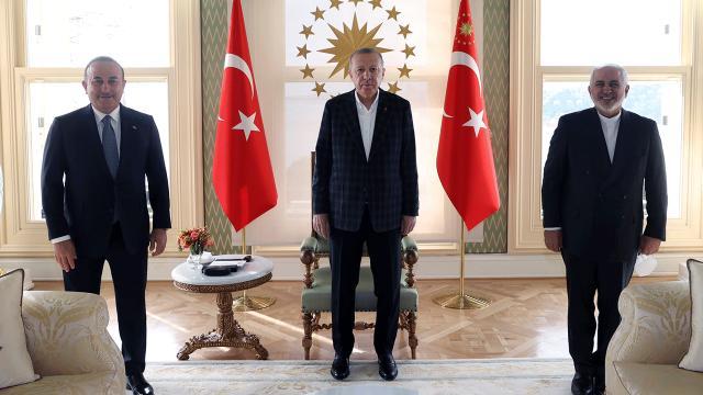 Cumhurbaşkanı Erdoğan İran Dışişleri Bakanı Zarif'i kabul etti