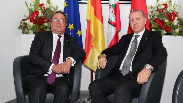 Türkiye Cumhuriyeti Cumhurbaşkanı Erdoğan, Laschet ile görüştü