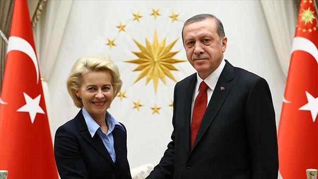 Cumhurbaşkanı Recep Tayyip Erdoğan, Avrupa Birliği (AB) Komisyonu Başkanı Ursula von der Leyen ile video konferans görüşmesi gerçekleştirdi.
